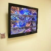 photo of video monitor